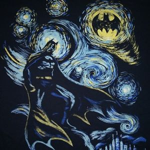 DC Comics Batman Van Gogh Style Tee